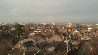 View of Zaporozhe from my fourth-floor apartment window